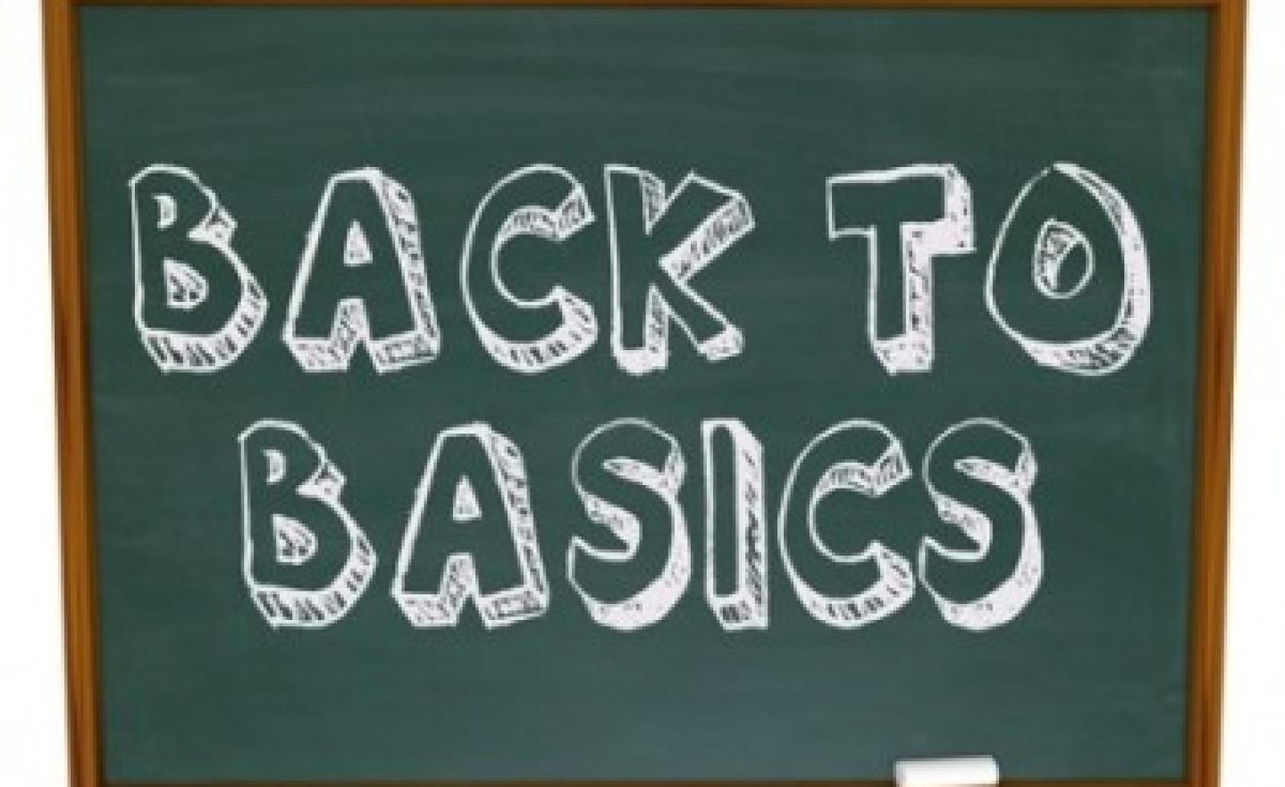 Back to Basics – Chalkboard